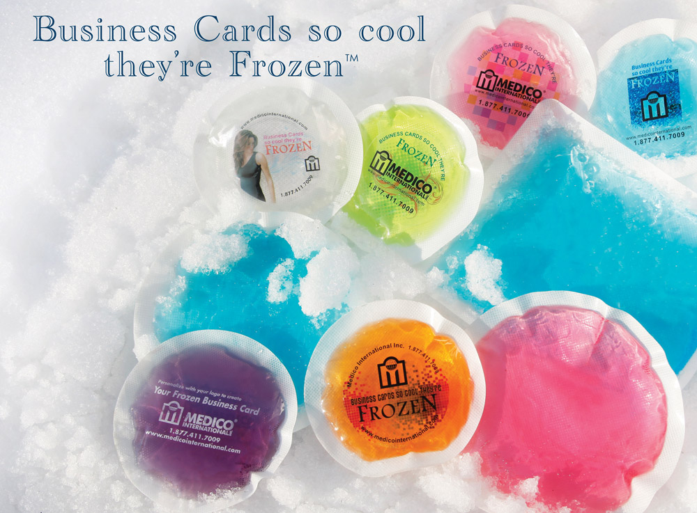 customization - Frozen Business Cards